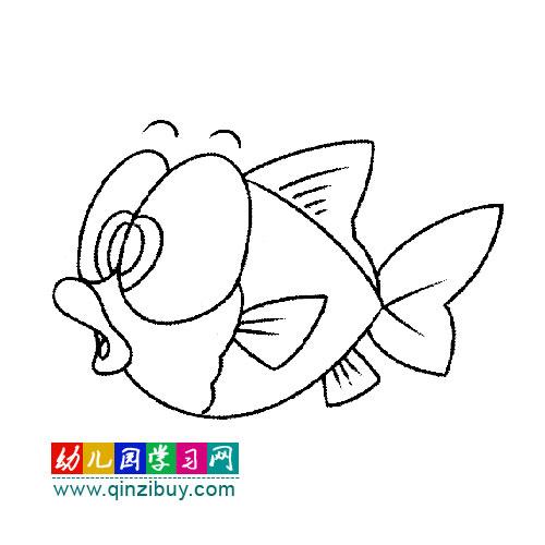 简笔画:大眼睛小金鱼1