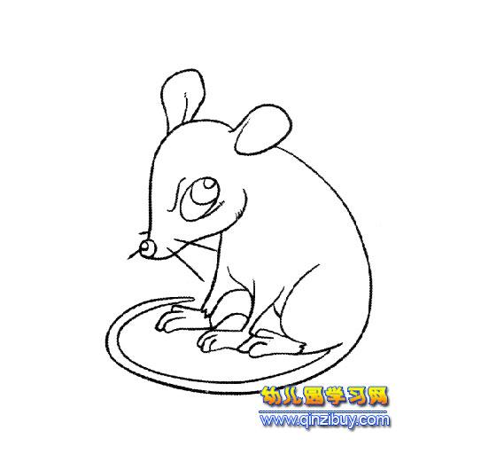 简笔画_沉思的小老鼠
